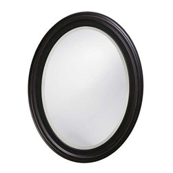Howard Elliott George Oil Rubbed Bronze Mirror - Our George Mirror is a Transitional piece featuring a simple oval frame finished in a oil rubbed bronze.