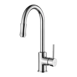 Kraus - Single Lever Pull out Kitchen Mixer Chrome - Update the look of your kitchen with this multi-functional Kraus pull-out faucet