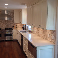 Transitional Kitchen Cabinetry by Top Drawer Custom Cabinetry
