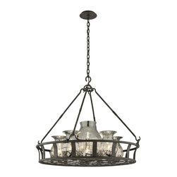 Troy Lighting - Troy Lighting F3598 Chianti Bronze Chianti 6 Light Mercury Glass Chandelier - Lamping Technology: Bulb Base - Medium (E26): The E26 (Edison 26mm), Medium Edison Screw, is the standard bulb used in 120-Volt applications in North America. E26 is the most common bulb type and is generally interchangeable with E27 bulbs. Compatible Bulb Types: Nearly all bulb types can be found for the E26 Medium Base, options include Incandescent, Fluorescent, LED, Halogen, and Xenon / Krypton.