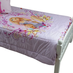 Jay Franco and Sons - Disney Tangled Twin Bed Comforter Magic Heart Bedding - FEATURES: