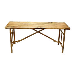 Bamboo54 - Bamboo 54 Long Table - An exotic take on traditional folding tables, this set offers sublime styling and meticulous attention to detail. Plus, it's ultra affordable! Bamboo folding table with spacious top surface, bamboo slat design and effortless folding. * Long folding bamboo table. Made of Bamboo. 63 in. L x 20 in. D x 28 in. H