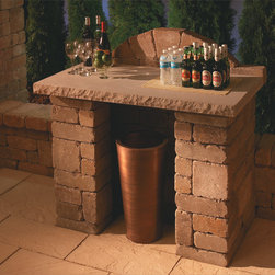 Compact Bar | Necessories™ ― Outdoor Living Kits - Necessories™ is a collection of ready-to-assemble outdoor fireplaces, waterfalls, bars, tables, fire rings, seat walls and patio kits.