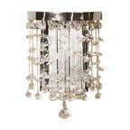 Uttermost Fascination Crystal Wall Sconce - Chrome plated rim adorned by various styles of crystal accents. The classic appeal of crystal is updated for today's sophisticated tastes.