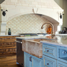 Mediterranean Kitchen by Rustico Tile and Stone