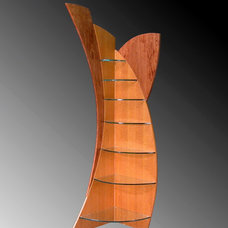 Contemporary Wall Shelves by Wood Slab Dining Tables by Jeffrey Greene