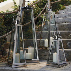 Frontgate - Pyramid Outdoor Lantern - I love these tall lanterns that are so simple and elegant.