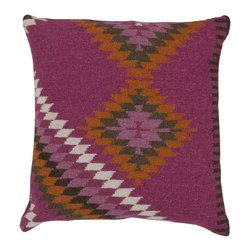"Surya - Surya 18 x 18 Decorative Pillow, Magenta and Other Colors (LD035-1818P) - Surya LD035-1818P 18"" x 18"" Decorative Pillow, Magenta and Other Colors"