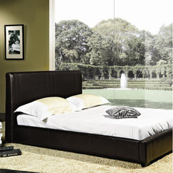 "Abbyson Living - Rene Panel Bed - Features: -Solid hardwood construction.-Materials: Bi-cast faux leather, solid hardwood.-Upholstery materials: Bi-cast faux leather.-Slat design eliminates need for a box spring.-Style: Contemporary/Modern beds.-Powder Coated Finish: No.-Gloss Finish: No.-Solid Wood Construction: Yes.-Upholstered: Yes -Upholstery Material: Bi-cast faux leather.-Nailhead Trim: No.-Tufted: No..-Number of Items Included: 1.-Non Toxic: Yes.-Scratch Resistant: No.-Mattress Included: No.-Recommended Mattress Height: Standard.-Box Spring Required: No.-Headboard Storage: No.-Footboard Storage: No.-Underbed Storage: No.-Mattress Profile Maximum: 10"".-Slats Required: Yes -Slats Included: Yes..-Center Support Legs: Yes.-Adjustable Headboard Height: No.-Adjustable Footboard Height: No.-Wingback: No.-Trundle Bed Included: No.-Lighted Headboard: No.-Distressed: No.-Bed Rails Included: Yes.-Collection: Lexington.-Eco-Friendly: Yes.-Recycled Content: No.-Wood Moldings: No.-Canopy Frame: No.-Hidden Storage: No.-Jewelry Compartment: No.-Swatch Available: No.-Commercial Use: Yes.Specifications: -ISTA 3A Certified: Yes.Dimensions: -Headboard Height: 41"".-Overall Height - Top to Bottom (Size: Full): 41"".-Overall Height - Top to Bottom (Size: Queen): 41"".-Overall Width - Side to Side (Size: Full): 58"".-Overall Width - Side to Side (Size: Queen): 68"".-Overall Depth - Front to Back (Size: Full): 85"".-Overall Depth - Front to Back (Size: Queen): 91"".-Overall Product Weight (Size: Full): 145 lbs.-Overall Product Weight (Size: Queen): 150 lbs.-Footboard Height: 12"".Assembly: -Assembly required..-Assembly Required: Yes.-Additional Parts Required: No.Warranty: -Product Warranty: 1 year."
