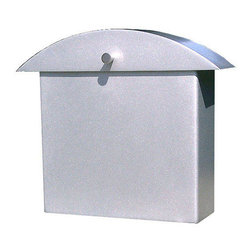 Monet Mailbox - This contemporary mailbox features a domed lid and a square holding area, as well as a protruding knob for easy opening.  Each mailbox is finished with a durable powder coating to assure that the original appearance stays true, even during extreme weather.