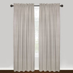 """Park B. Smith - Park B. Smith Vintage House Jasmine 100% Cotton Rod Pocket Window Curtain Panels - The beautiful Vintage House Jasmine window curtain panels are offered in a solid and chambray pattern with a woven-in eyelet vertical stripe. Panels are sold individually, measure 40"""" wide and fit a rod up to 2"""" in diameter."""