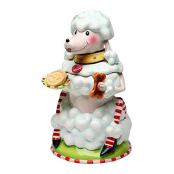 ATD - 13 Inch White Poodle with Striped Stockings Christmas Theme Cookie Jar - This gorgeous 13 Inch White Poodle with Striped Stockings Christmas Theme Cookie Jar has the finest details and highest quality you will find anywhere! 13 Inch White Poodle with Striped Stockings Christmas Theme Cookie Jar is truly remarkable.