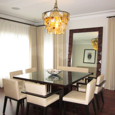Transitional Dining Room by Bruce Lopez
