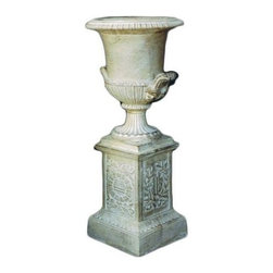 Casa de Arti - Classic Empire Urn Pot in Roman Stone Finish - Beautiful decorative Urn or Pot perfect for you home or office garden decor at an incredible price!