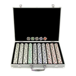 Trademark Global - Trademark Poker 11.5g 4 Aces Poker Chip Set with Aluminum Case Multicolor - 10-1 - Shop for Card and Casino Games and Accessories from Hayneedle.com! Four aces around the chip's denomination provides a colorful accent for each chip in the Trademark Poker 11.5g 4 Aces Poker Chip Set with Aluminum Case. These chips made from composite resin have a casino weight and quality that's sure to enhance your next game night. They come packaged in a heavy-duty lightweight aluminum case lined with black felt with molded trays to hold your chips in place. 300-chip Set Includes: 150 white $1 chips 100 red $5 chips 50 blue $10 chips 1 set of dice 2 decks of cards Aluminum case: 16.25L x 9.25W x 2.75H inches 500-chip Set Includes: 150 white $1 chips 150 red $5 chips 100 blue $10 chips 100 green $25 chips 2 decks of cards 3 buttons: Dealer Big Blind and Little Blind Aluminum case: 22L x 10W x 4H inches 100-chip Set Includes: 300 white $1 chips 300 red $5 chips 250 blue $10 chips 100 green $25 chips 50 black $100 chips Aluminum case: 20L x 16W x 3H inches About Trademark Global Inc.Located in Lorain Ohio Trademark Global offers a vast selection of items for your home and lifestyle. Whether you need automotive products collectibles electronics general merchandise home and garden items home decor house wares outdoor supplies sporting goods tools or toys Trademark Global has it at a price you can afford. Decor items and so much more are the hallmark of this company.