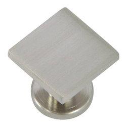 Stone Mill Hardware - Stone Mill Hardware Satin Nickel SoHo Cabinet Knob - Stone Mill Hardware - Satin Nickel SoHo Cabinet Knob
