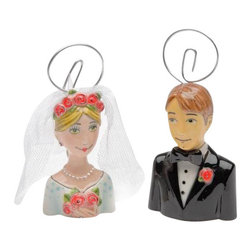 """ATD - 2 7/8 Inch """"Marry Me"""" Bride and Groom Place Card Holders Set - This gorgeous 2 7/8 Inch """"Marry Me"""" Bride and Groom Place Card Holders Set has the finest details and highest quality you will find anywhere! 2 7/8 Inch """"Marry Me"""" Bride and Groom Place Card Holders Set is truly remarkable."""