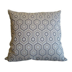 "Feather & Down Geometric Pillow - A brand new geometric print 18"" Feather and Down pillow in the style of David Hicks. A fabulous contemporary piece of sofa flair! Multiple pillows are available, please contact support@chairish.com if you're interested in purchasing multiples."