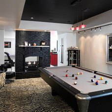 Contemporary Basement by Crawford Builders