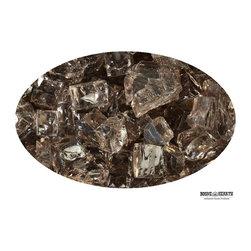 """Boone Hearth - 10 LB Bag of 1/4"""" Bronze Fire Glass - 10 LB Bag of 1/4"""" Bronze Fire Glass"""
