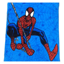 Jay Franco and Sons - Marvel Comics Spider-Man Webslinger Toddler Plush Blanket - Features: