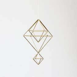 Brass Himmeli Mobile by Hruskaa - These mobiles are so beautiful that they could work in any room of the house. I especially love the metallic sheen of this one.