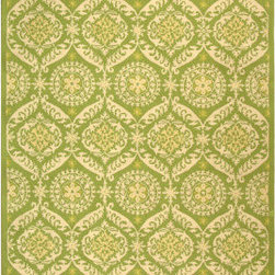 Grandin Road - Chelsea Green & Beige Rug - Hand-crafted of 100% virgin wool. Easy to care for. Cotton backed for durability. The delicate blending of colors and the traditional design of our Chelsea Green & Beige Rug make this rug a welcome addition to any room. This hand-hooked wool rug will complement modern or traditional decors.. . .