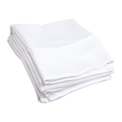 "500 Thread Count Cotton Pillowcase Set - Standard - White - These 500 thread count pillowcases are made of premium quality cotton and built to last. They offer long lasting comfort and are a great value for the price. Each set includes two pillowcases 20""x30"" each."