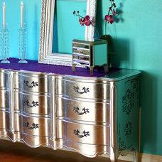 Eclectic  Silver Leaf Dresser