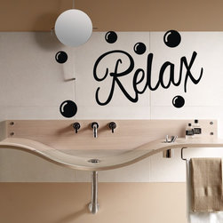ColorfulHall Co., LTD - Bathroom Wall Stickers Waterproof Self-Adhesive Relax Bubbles Pattern Decor - Bathroom Wall Stickers Waterproof Self-adhesive Relax Bubbles Pattern Decor