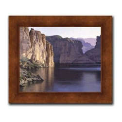 """Jay Moore - Quiet Reflections 20 x 24 Print - """"Quiet Reflections"""" is a landscape canvas giclee by Jay Moore. We present this to you in a wood grained finish with a beveled lip frame. This makes an overall framed size of 20 x 24."""