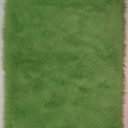 "Fun Rugs - Kids Flokati 3'3""x4'10"" Rectangle Lime Green Area Rug - The Flokati area rug Collection offers an affordable assortment of Kids stylings. Flokati features a blend of natural Lime Green color. Machine Made of 100% Polyester the Flokati Collection is an intriguing compliment to any decor."