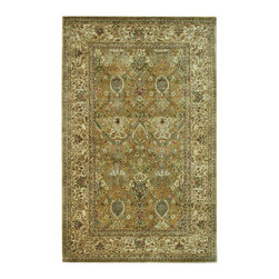 Safavieh - Persian Legend Green/Brown Area Rug PL519A - 6' x 6' Round - Inspired by the legendary designs of Persia's most prestigious rug-weaving capitals, these extraordinary reproductions recreate some of the most prized antiques in Safavieh's archival collection. Intricate Tabriz, Lavar Kerman and Isfahan hand-knotted motifs are remarkably adapted to these hand-tufted rugs of incomparable quality. The finest New Zealand wool is chosen to achieve the intricate weave of these carpets. With utmost attention to every detail, Safavieh creates its Persian Legends Collection in India to provide consumers an exquisite yet affordable artisan-crafted look.