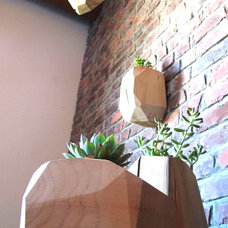 Multifaceted wood planters