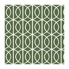 Green Modern Trellis Linen Fabric - Rounded trellis in emerald green & white on soft lightweight line. Your gateway to a chic modern look.Recover your chair. Upholster a wall. Create a framed piece of art. Sew your own home accent. Whatever your decorating project, Loom's gorgeous, designer fabrics by the yard are up to the challenge!