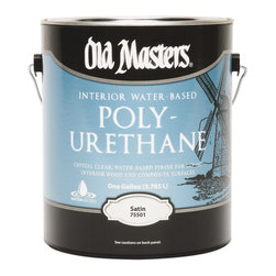 Old Masters - Old Masters 1 Gallon Satin Water-Based Polyurethane (2 Pack) (75501) - Old Masters 75501 1 Gallon Satin Water-Based Polyurethane (2 Pack)