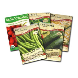 Garden Vegetable Seed Packets Corn, Bean, Cucumber, Lettuce, and Tomato - This listing come with a variety of five different vegetable packs that are well worth the work. This pack includes the following: