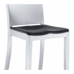 Emeco Hudson Seat Pad In Black Vinyl Cover Your Seat