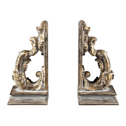 Sterling Industries - Florentine Scroll Bookends - Florentine scroll bookends by Sterling Industries