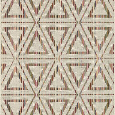 """Loloi Rugs - Loloi Rugs Ibiza Collection - Ivory / Multi, 9'-2"""" x 12'-1"""" - The Ibiza Collection is the ideal modern rug for indoor and outdoor spaces. Power loomed in Egypt of 100% polypropylene, these head-turning rugs include a full spectrum of colors that can't help but liven up your front porch, patio, or poolside deck. And with it's durable construction and fiber, Ibiza is a low maintenance rug for the indoors too."""