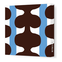 """Avalisa - Pattern - 115 Stretched Wall Art, 28"""" x 28"""", Blue - Add a pop of color to any room with this playful work of art. Each piece is printed on fabric and applied to stretchers for a straight-from-the-gallery look. Use one to dress up a naked wall, or hang them in a group for maximum impact."""