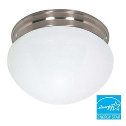 Green Matters - Green Matters 2-Light Flush-Mount Brushed Nickel Large Mushroom Fixture HD-406 - Shop for Lighting & Fans at The Home Depot. The Green Matters 2-Light Flush-Mount Brushed Nickel Large Mushroom Fixture provides energy-efficient illumination with even light distribution for your living space.