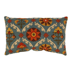 Pillow Perfect - Mayan Medallion Rectangular Throw Pillow in Adobe - - 100% Cotton  - 100% Virgin Recycled Polyester Fill  - Sewn Seam Closure  - Spot Clean Only  - Made In USA Pillow Perfect - 474168