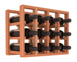 Wine Racks America® - 12 Bottle Counter Top/Pantry Wine Rack in Redwood, (Unstained) - These counter top wine racks are ideal for any pantry or kitchen setting.  These wine racks are also great for maximizing odd-sized/unused storage space.  They are available in furniture grade Ponderosa Pine, or Premium Redwood along with optional 6 stains and satin finish.  With 1-10 columns available, these racks will accommodate most any space!!