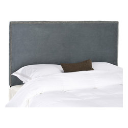 Safavieh - Safavieh Sydney Grey Full/ Queen Headboard - Choose the Sydney headboard for tailored luxury upholstered with polyester fabric over thick padding for comfort and style.