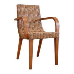 Weave Slope Arm Chair - Add a stunning addition to your modern décor with the Weave Slope Arm Chair. Its sloped backrest seamlessly merges into the seat, providing lasting comfort that's only natural.