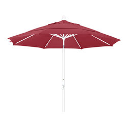 California Umbrella - 11 Foot Sunbrella Aluminum Crank Lift Collar Tilt Market Umbrella, White Pole - California Umbrella, Inc. has been producing high quality patio umbrellas and frames for over 50-years. The California Umbrella trademark is immediately recognized for its standard in engineering and innovation among all brands in the United States. As a leader in the industry, they strive to provide you with products and service that will satisfy even the most demanding consumers.