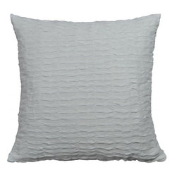 "La Mode Couture - Royal Ripples Pure White Pillow 20"" x 20"" Includes Feather/Down Insert - Vivify your space with a royal makeover. Rest in exquisite textiles while you revivivy for a radiant new day. An aura of smooth continious open weave ripples are clearly made to be eye-catching."
