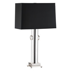 Robert Abbey - Ondine Silver Table Lamp, Black - -1-100W Max.