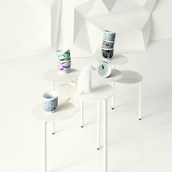 fusion coffee tables by nendo -